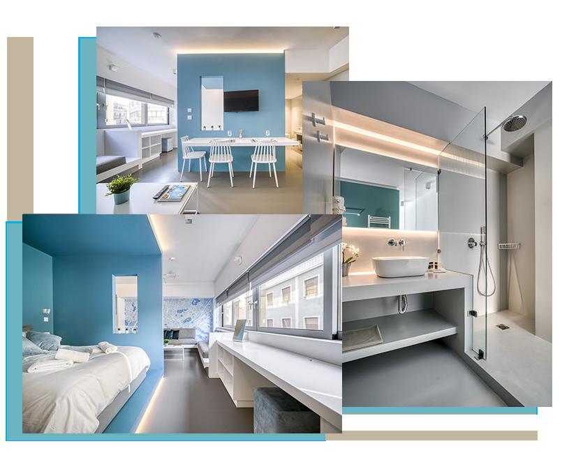 διαμονη αθηνα κεντρο - Athens Color Cube Luxury Apartments